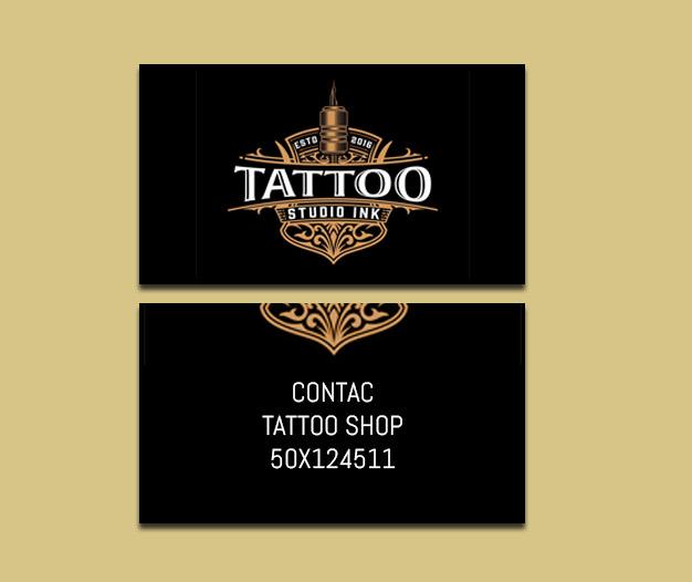 Tarjetas de presentación Tattoo, Tarjetas Tattoo