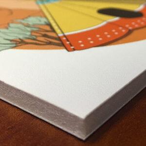 Imprimir cartón pluma o foam para empresas y negocios.