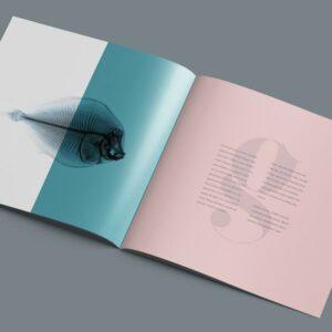 Impresión de dípticos cuadrados para empresas.