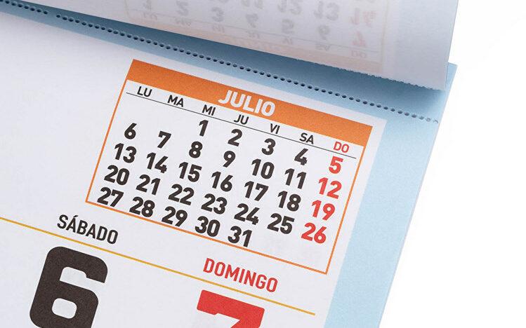 imprimir faldillas calendarios