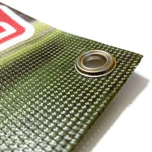 Imprimir pancartas microperforadas personalizadas para empresas y negocios.
