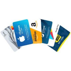 Imprimir tarjetas regalo personalizadas de la más alta calidad para negocios y profesionales.