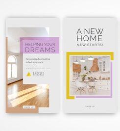Plantilla de diseño de flyers inmobiliarias