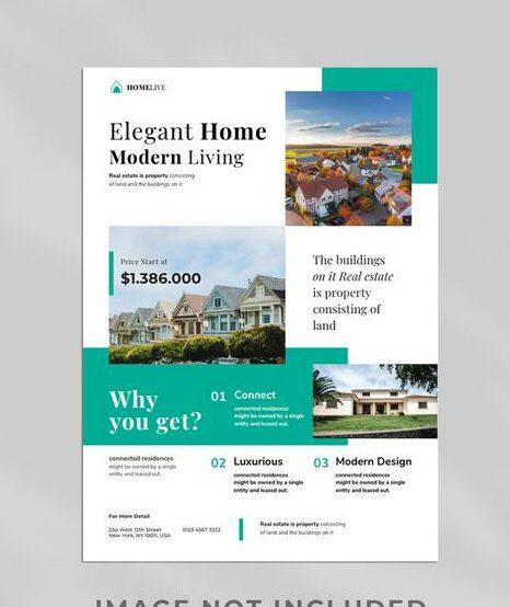 plantilla de diseño para inmobiliarias