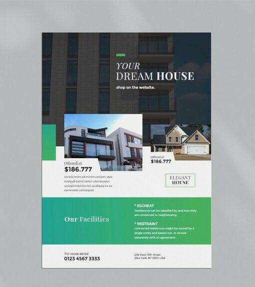 diseño de flyer inmobiliaria