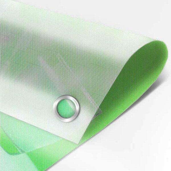 Imprimir lona microperforada a todo color, de alta calidad.