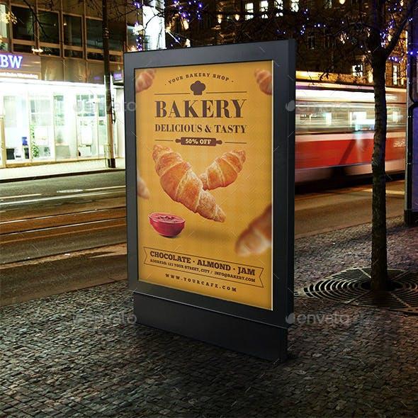 Imprimir lona para panaderia de alta calidad para negocios.