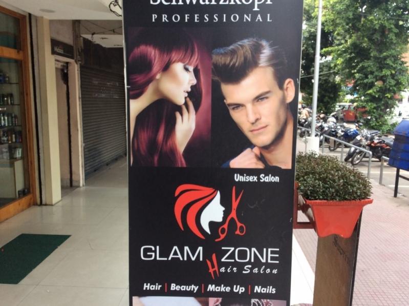 Impresión de lona para peluquería de alta calidad.