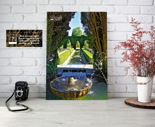 Poster impreso de la Alhambra de Granada