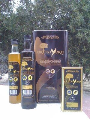 aceite de oliva virgen extra packaging