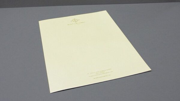 papel de carta A5 para empresa