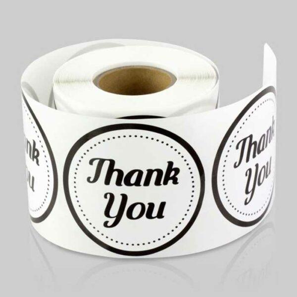 Impresión de pegatinas en bobina o rollo para publicidad y packaging.