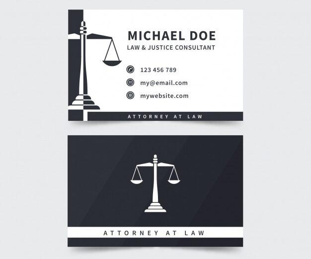 plantilla tarjeta de visita para abogado 8
