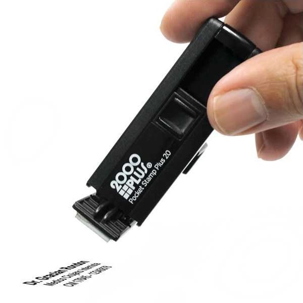 sello automatico de bolsillo