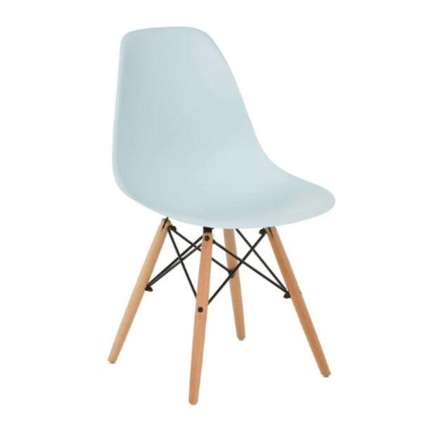 silla azul claro