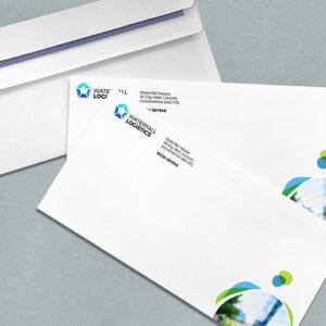 Sobres con logotipo personalizados para publicidad directa de empresas y negocios.