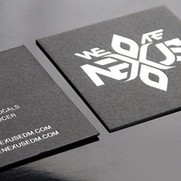 impresión en tarjetas cuadradas