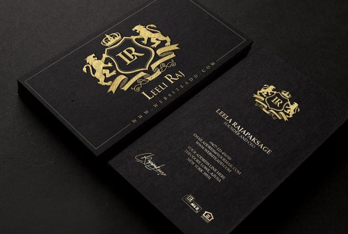 Tarjetas de visita de lujo para profesionales, negocios y empresas.