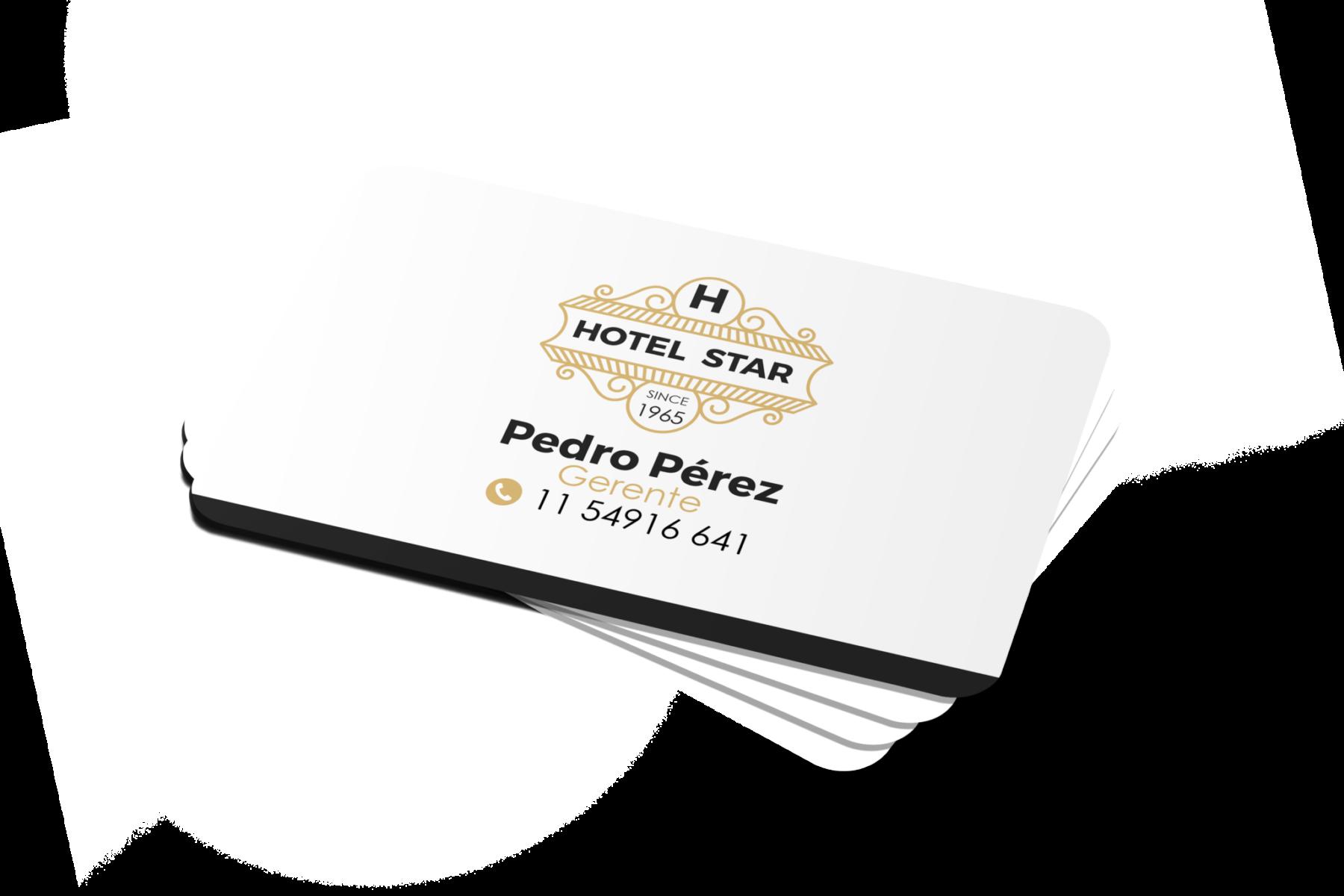 Tarjetas de presentación Hotel, Tarjetas Hotel