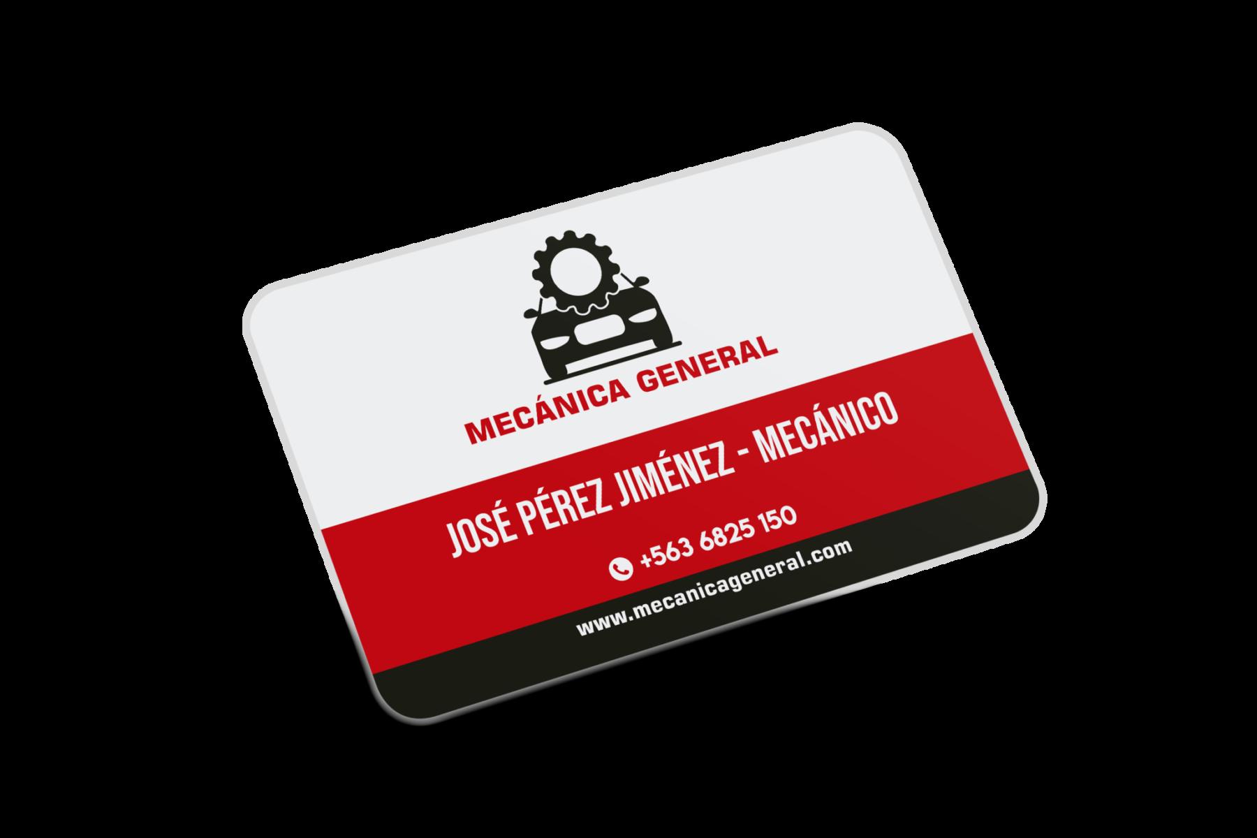 Tarjetas de visita taller mecánico, Tarjetas de visita Taller Mecánico