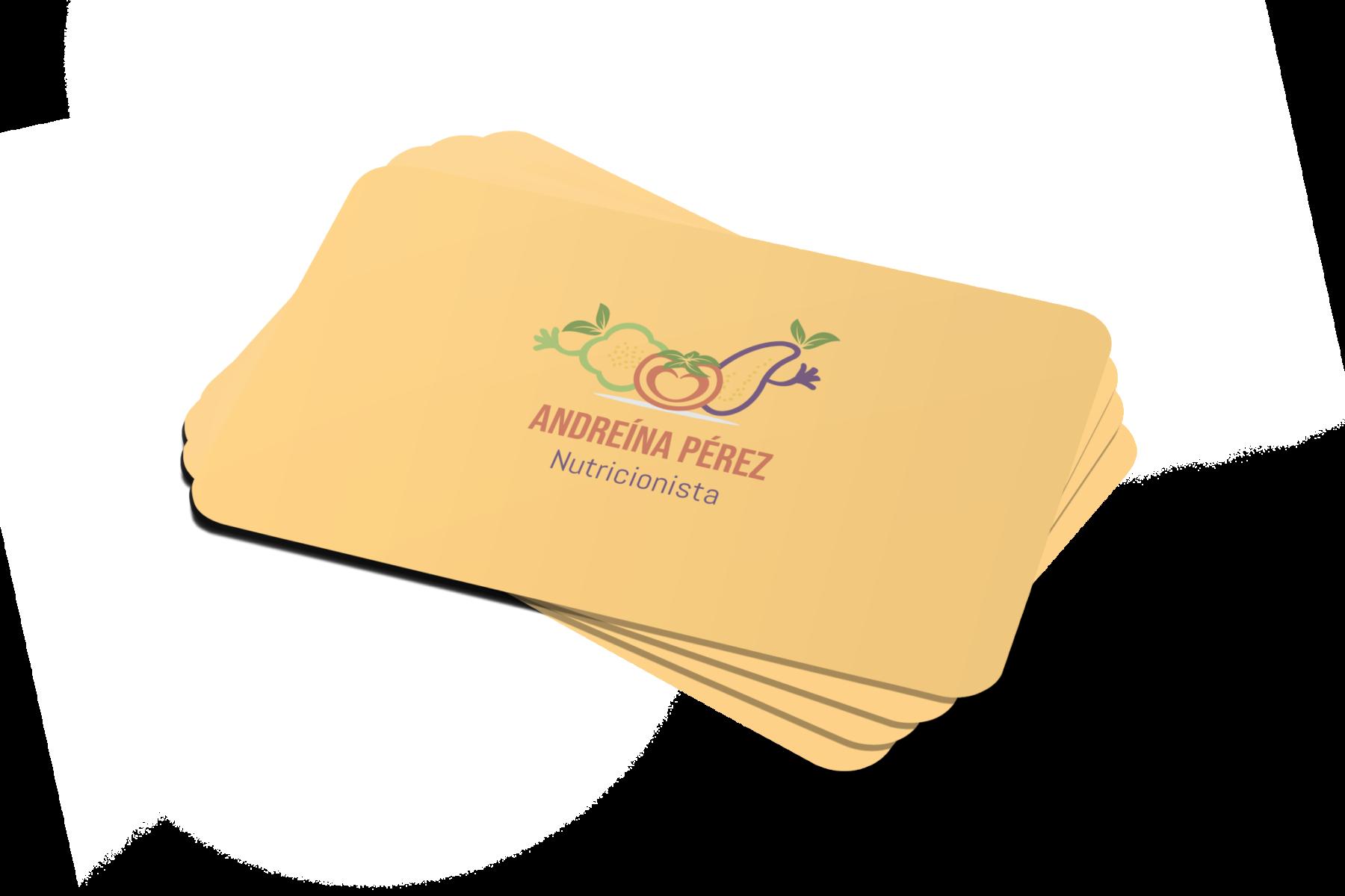 tarjetas de visita nutricionista