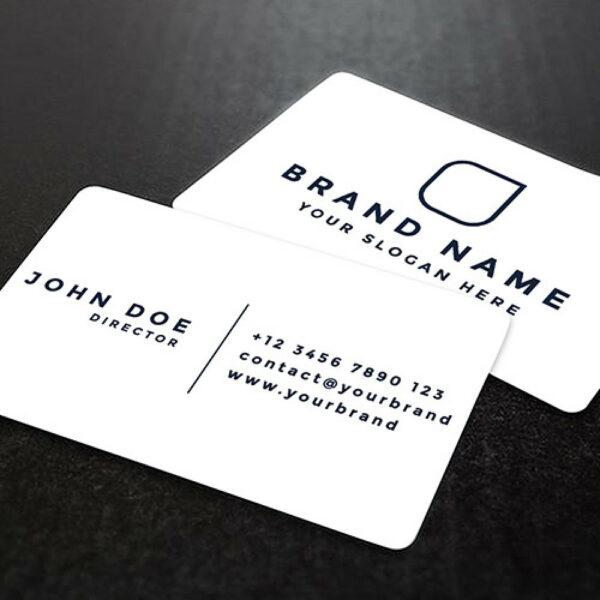 tarjetas de visita plastico blanco