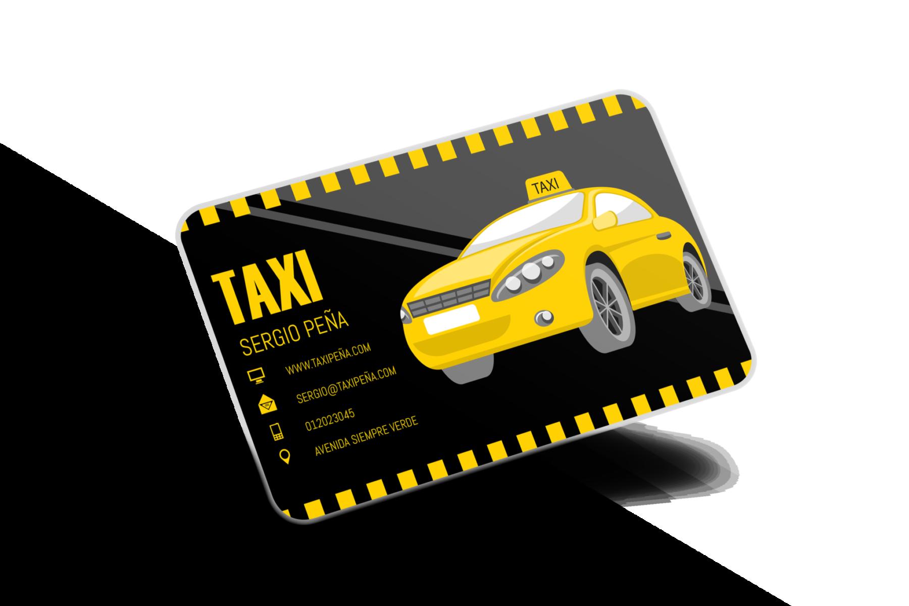 Tarjetas de presentación Taxi, Tarjetas Taxi