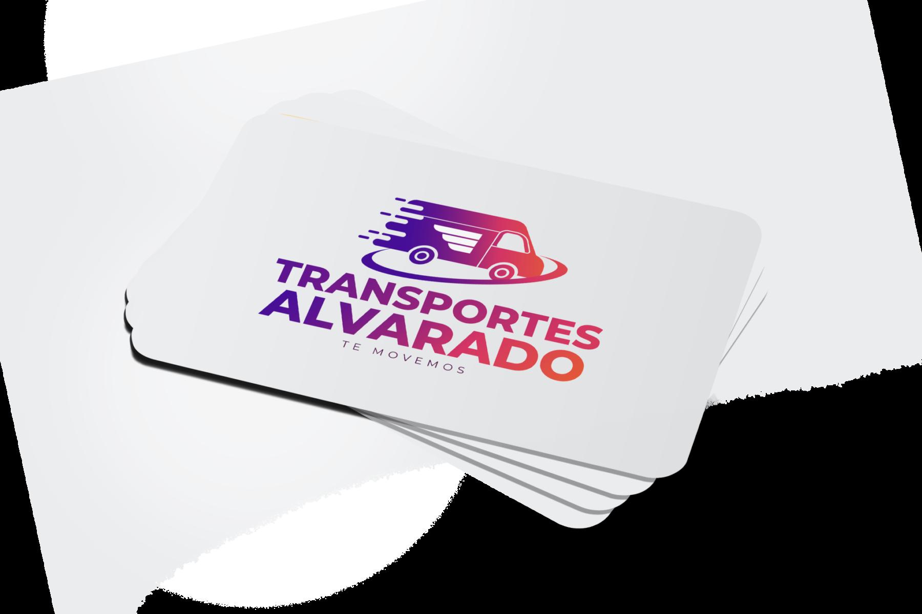 Tarjeta de visita para empresas de transporte y transportistas profesionales.