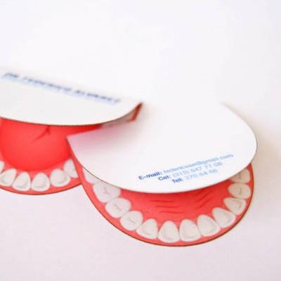 Tarjetas de visita dobles, tarjetas de presentación odoltología
