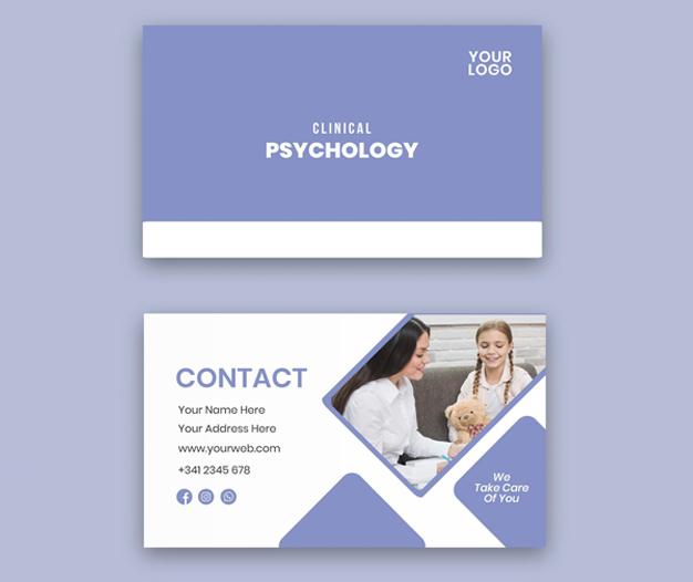 tarjetas para psicologos diseño