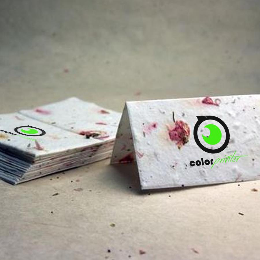 Semillas para tarjetas de visita ecológicas que se pueden sembrar