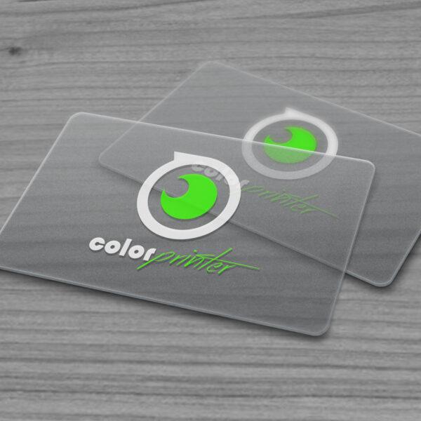 imprimir en tarjetas plásticas transparentes
