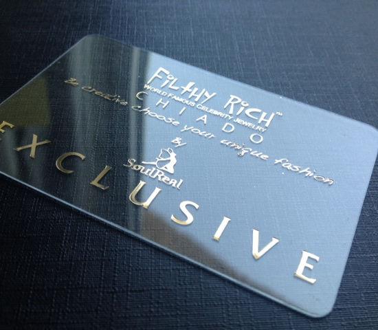 tarjetas de visita transparentes exclusivas