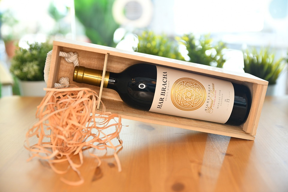 packaging de madera para vinos